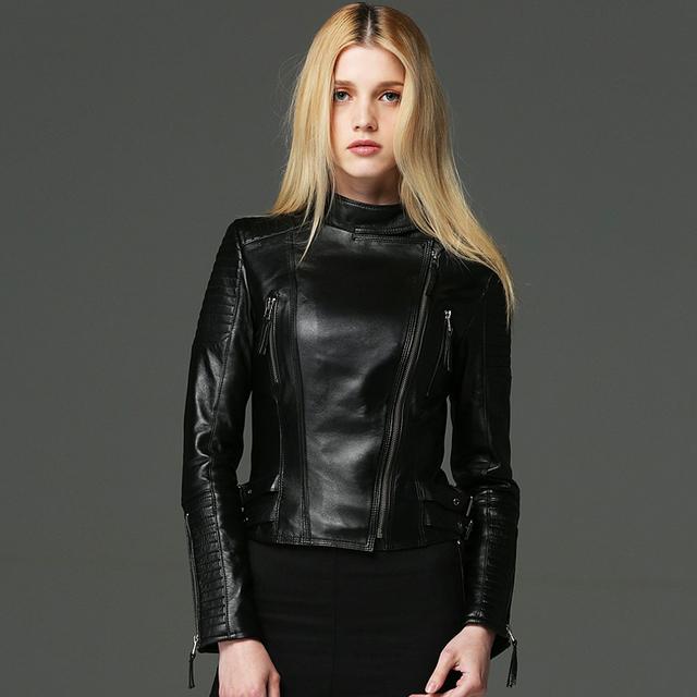 Las mujeres de LA PU de la Chaqueta de Cuero 2016 otoño nueva high street Fashion brand estilo de Cuero de La Motocicleta Corta Chaqueta de Abrigo de calidad superior