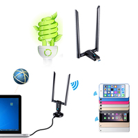 1200M Dual Band Wireless USB3 0 WiFi Adapter Antennas Networks Card For Desktop Laptop WinXP 7