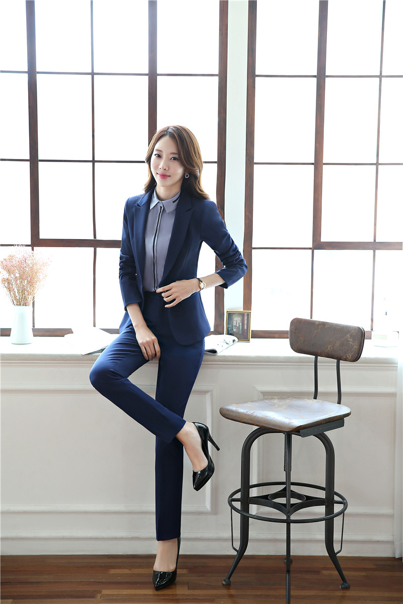 b654252586962 Plus Size Formal Professional Pants Suits With Jackets And Pants For ...