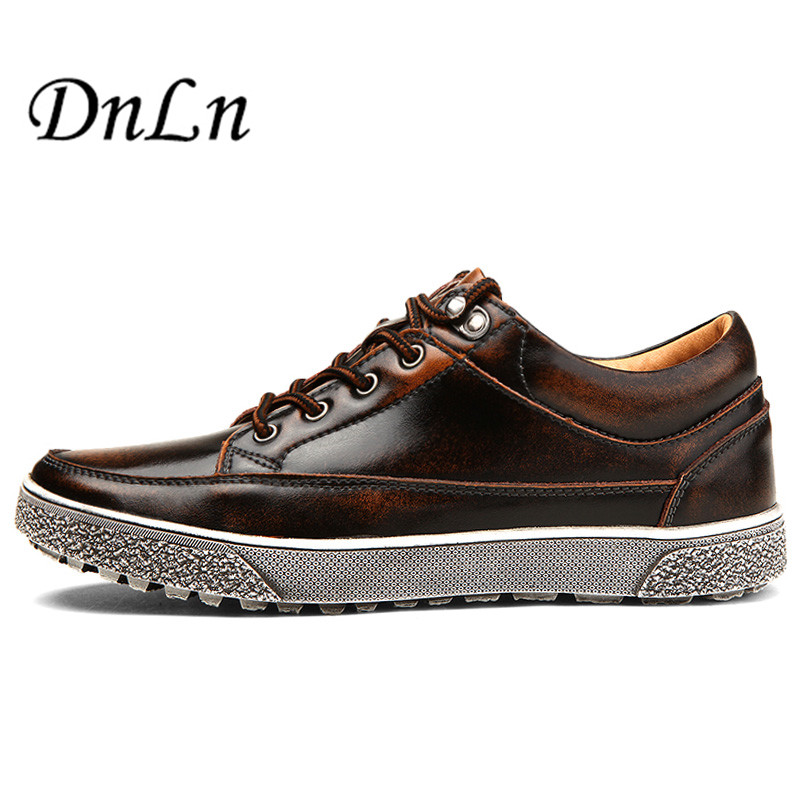 Men Bullock Shoes 2017 Spring/Autumn New Fashion Men's Round Toe Cow British Business Flat Leather Casual Shoes For Man D30