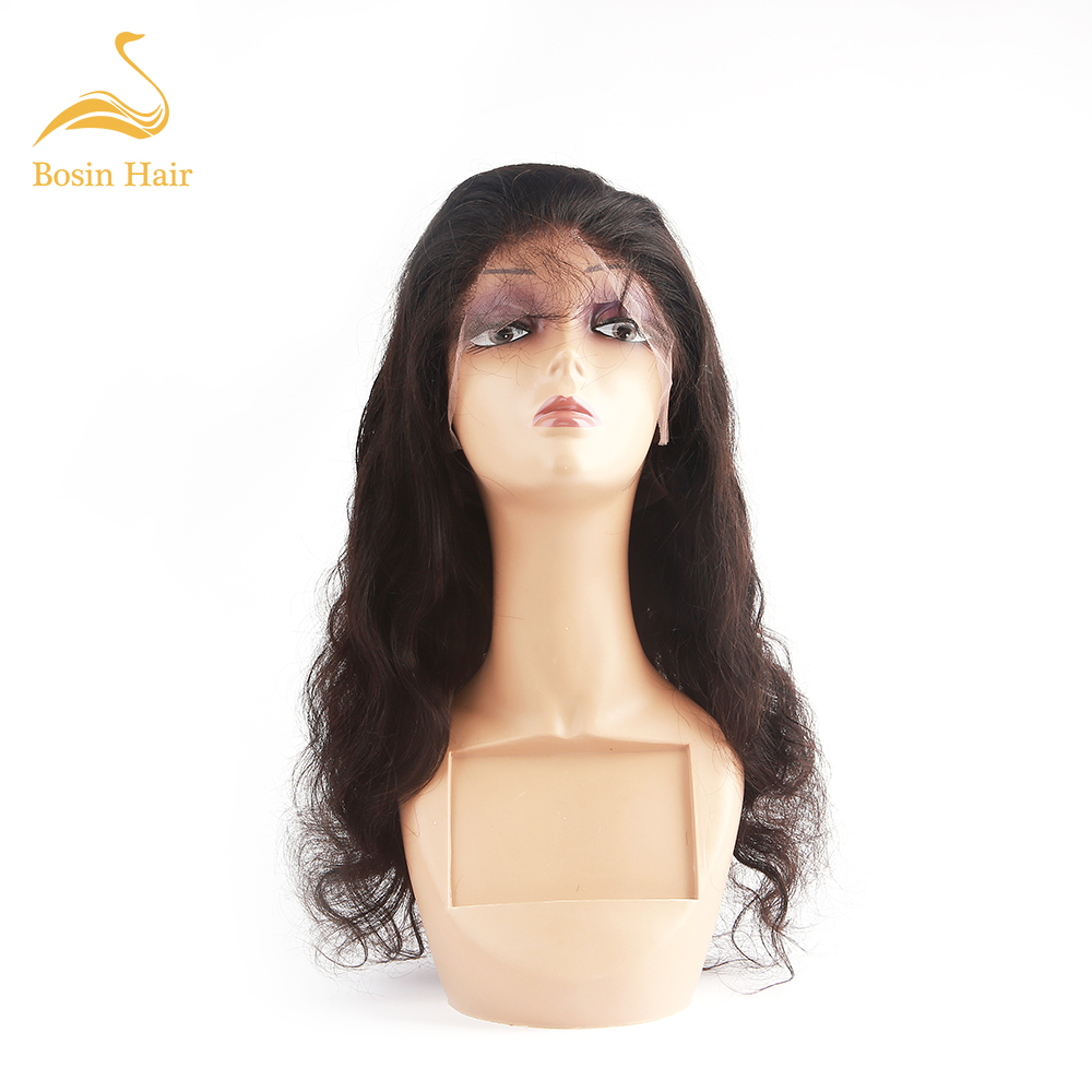 Bosin Hair Body Wave   Lace  Human Hair Wigs Remy Hair Free Shipping