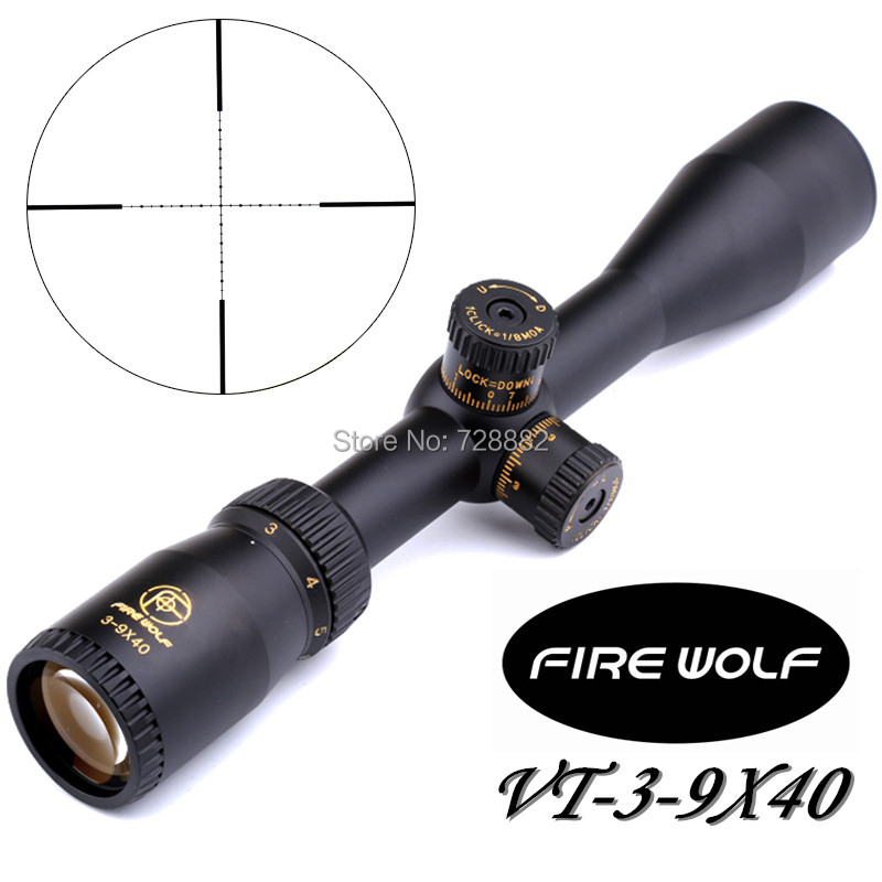 Tactical VT 3-9x40 Mil-dot Riflescopes Optical Rifle Scope For Hunting with 11mm/20mm Scope Mounts marcool 4 16x44 side focus front focal plane optical sights rifle scope hunting riflescopes for tactical gun scopes for adults
