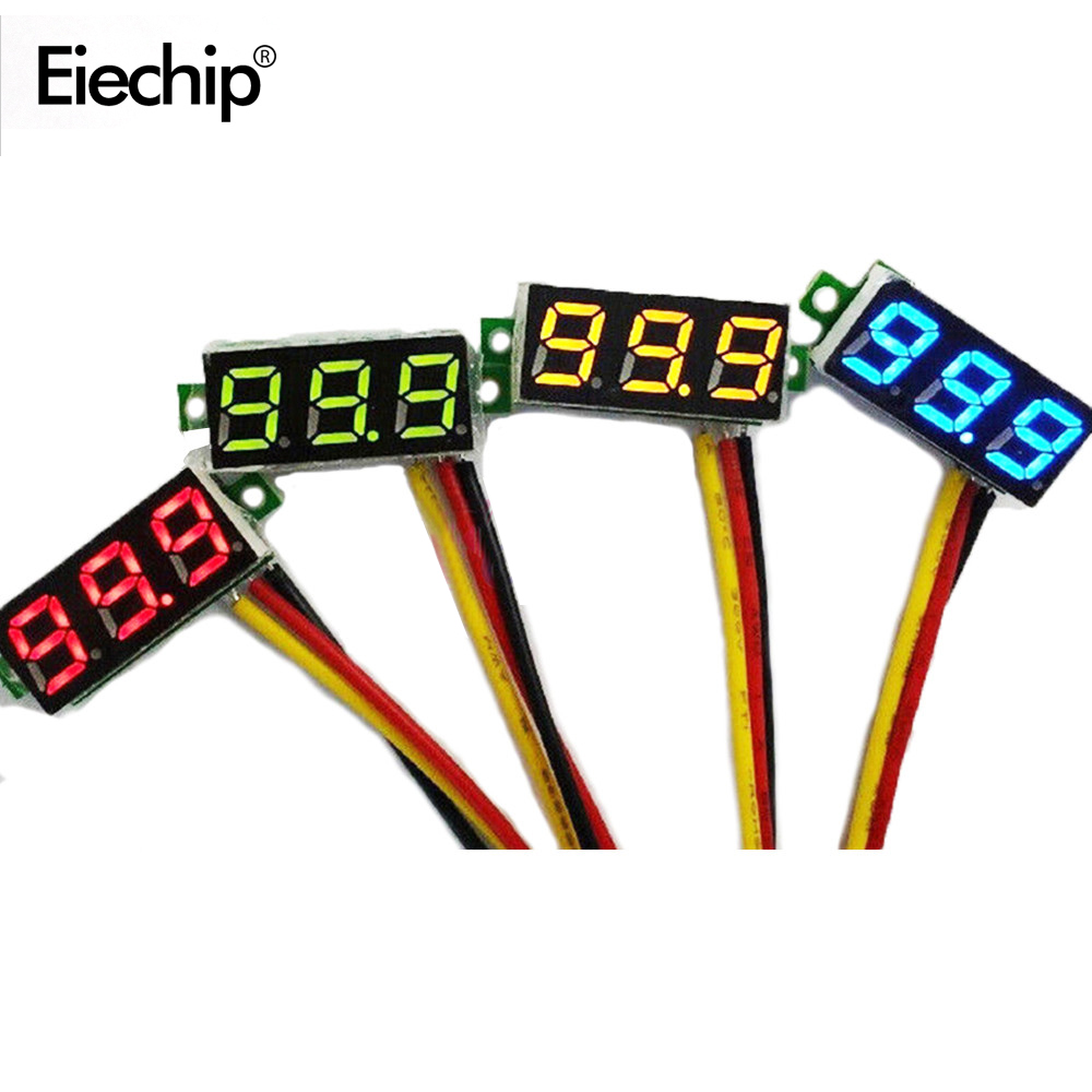 0.28 Inch Digital DC 3.5V-30V LED Mini Display Module DC 0-100V Voltmeter Voltage Tester Panel Meter Gauge Motorcycle Car