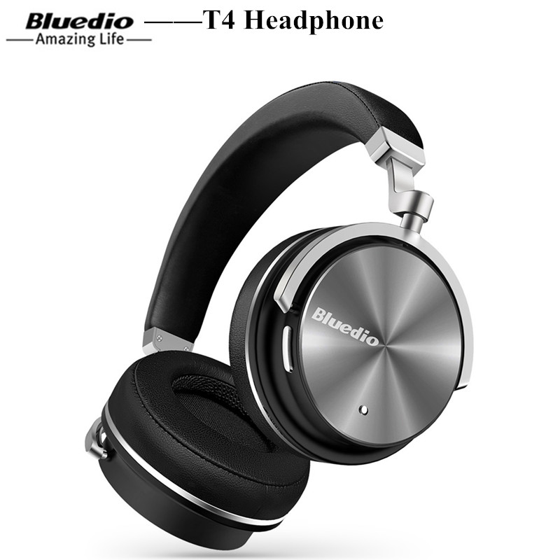 Bluedio T4 Portable Wireless Bluetooth Headphones Wireless Headset With Microphone Music For Mobile Phone IOS Noise Cancelling noise cancelling bluetooth 4 2 wireless sports headset with tf slot for phone