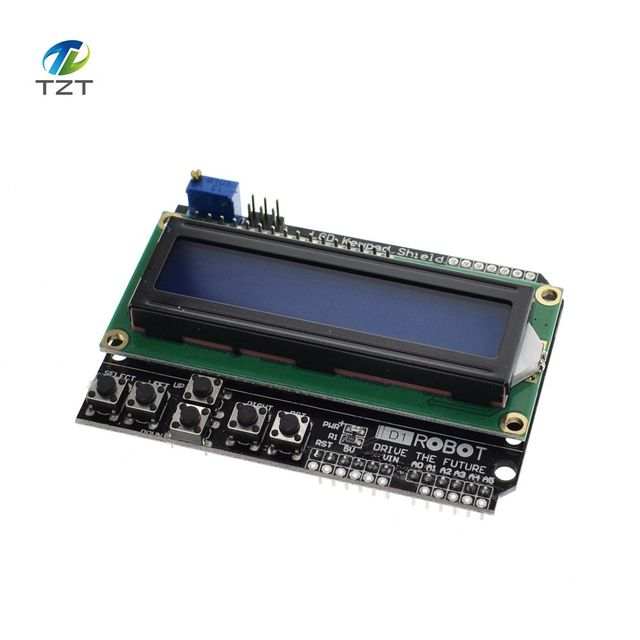 US $2 28 |1PCS LCD Keypad Shield LCD1602 LCD 1602 Module Display For  Arduino ATMEGA328 ATMEGA2560 raspberry pi UNO blue screen -in LCD Modules  from