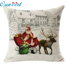 Homewider Рождество льняной площади бросать льняная подушка случае домашнего украшения падение доставки высокое качество W1117