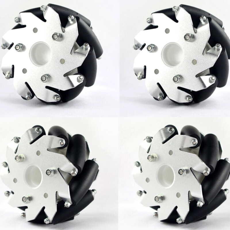 A Set of 100 mm Mecanum Wheels 4 inch Mecanum Wheels Wholesale 2 Left 2 Right