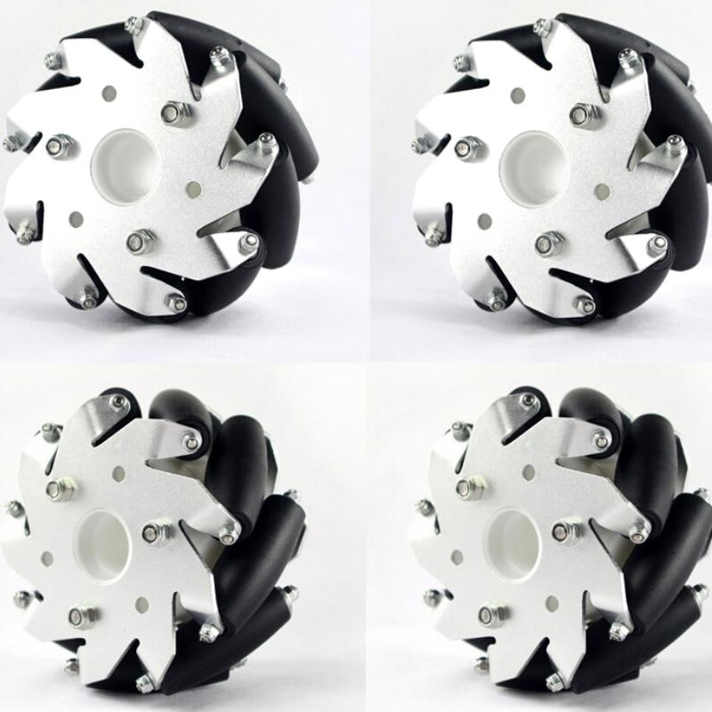 A Set of 100 mm Mecanum Wheels 4 inch Mecanum Wheels Wholesale 2 Left 2 Right