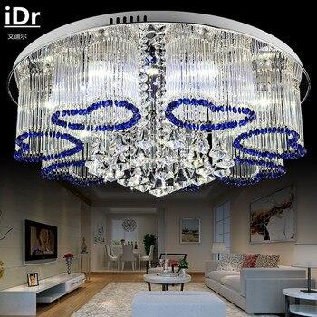 Creativo circular lámpara de techo para salón dormitorio lámpara romántica atmósfera luces de techo de cristal LED de alta calidad de la luz