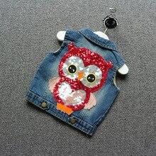 Spring Autumn Children Girls Fashion font b Clothing b font font b kids b font Owl