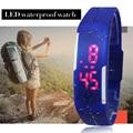 Reloj del Tacto LED del Nuevo Diseño Mujeres Niños Reloj Digital de Moda de Silicona Jelly elegante Rectángulo Reloj Hora