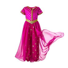 Pettigirl Kids Halloween Costume Hot Pink Children Jumpsuit Fancy Cosplay Princess Costume Girl Cosplay Clothes For Kids Girl