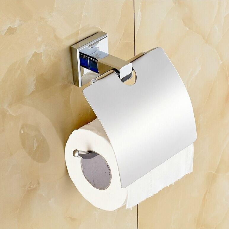Envío Gratis sólido latón papel higiénico caja de papel higiénico titular  accesorios de baño titular de papel higiénico titular de papel 285116 f1b77cbba53