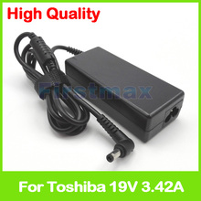 Cargador adaptador de CA para portátil Toshiba Satellite Pro A200, A210, A300, A300D, A30T C 111, C650, C650D, C660, C70 C, C840, C850, 19V, 3,42a