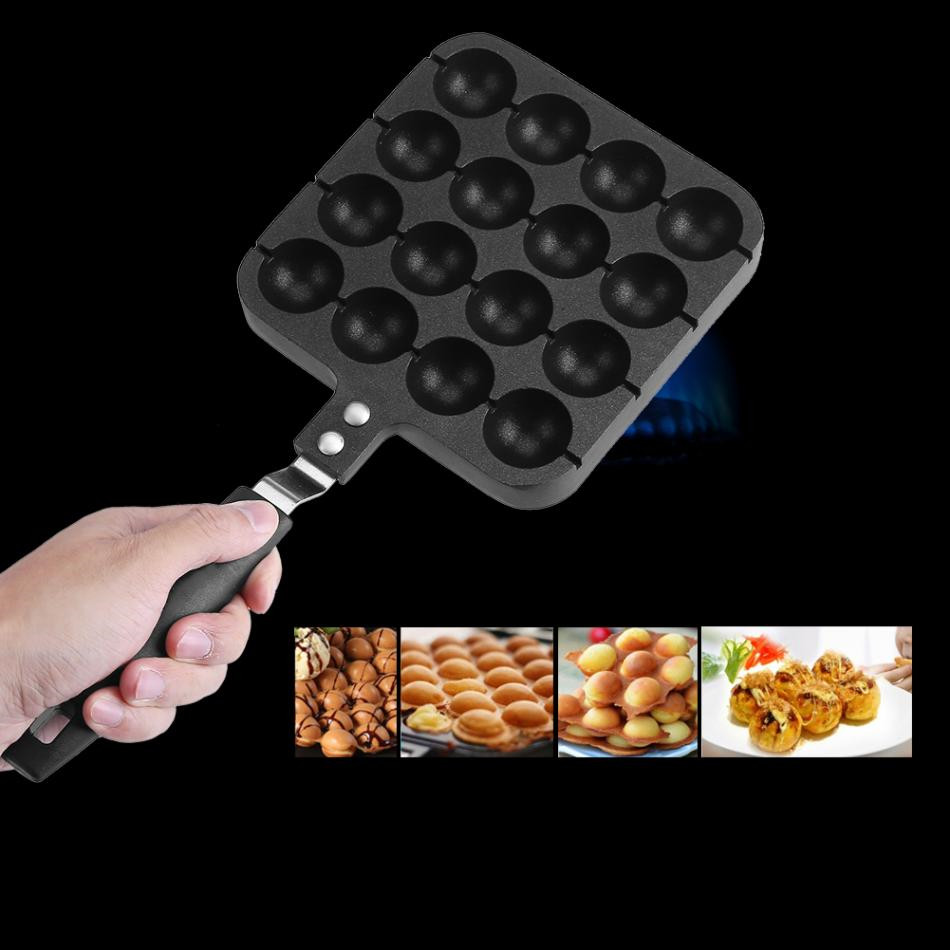 Professional Takoyaki Grill Pan Octopus Ball Maker Machine With 16 Holes Home Cooking Baking Tools Kitchen Accessories