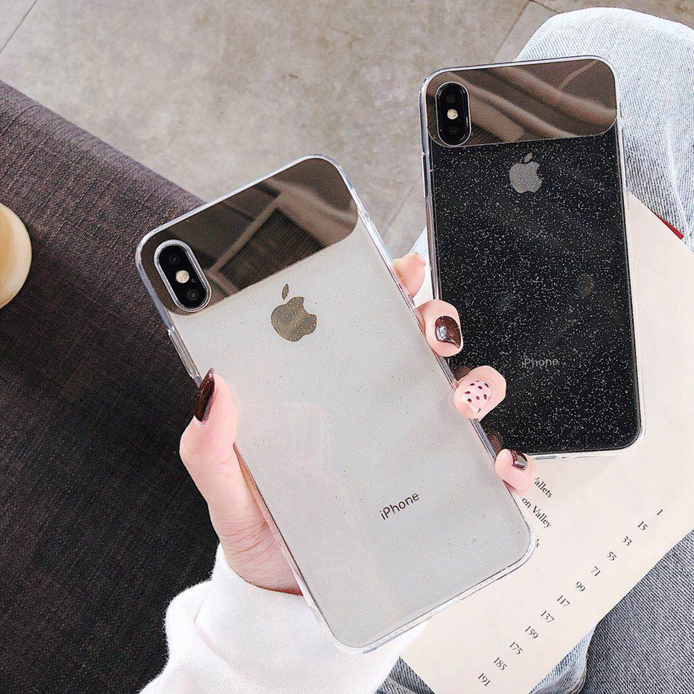 Image 5 - Eqvvol New Glitter Transparent Case For iPhone 7 8 Plus 6 6s Soft TPU Mirror Cases For iPhone X XS MAX XR Ultra Thin Cover Coque-in Fitted Cases from Cellphones & Telecommunications