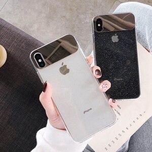 Image 5 - Новый Блестящий Прозрачный чехол Eqvvol для iPhone 7 8 Plus 6 6s, мягкие зеркальные чехлы из ТПУ для iPhone X XS MAX XR, Ультратонкий чехол