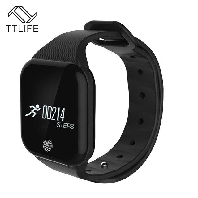 TTLIFE Banda Inteligente Bluetooth4.0 X5 IP67 Impermeable Monitor de Ritmo Cardíaco Monitor de Sueño anti-perdida Deportes Smartband para IOS Android
