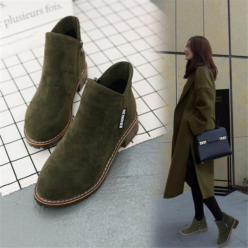 ELGEER boots womens booties students 2018 winter new wild bare women