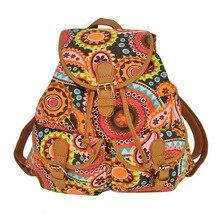 Новая летняя женская сумка колледж ветер печатает плечи рюкзак хит цвет холст сумка женская вертикальное сечение квадрат