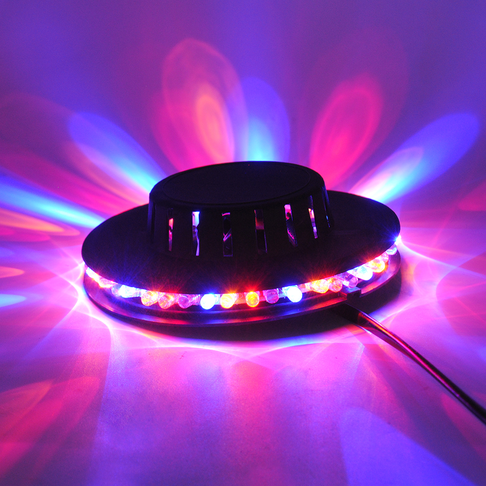 8w 48leds seven color sun pattern plastic stage lamp ac 90 240v - Black Disco Light Bar Club Party 5w Dj Lights 48 Led Rgb Led Par Flashing Stage