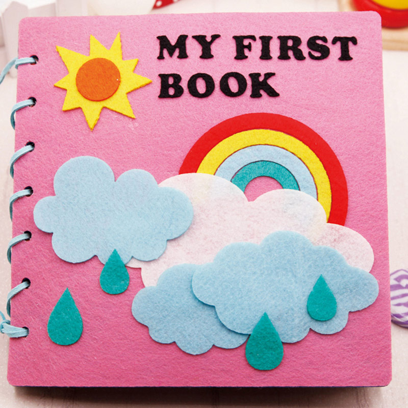 Mom Handmade My First Book 20X20CM Soft Felt Cloth Quiet Book Toys For Kids Early Learning Educational Felt Material DIY Package