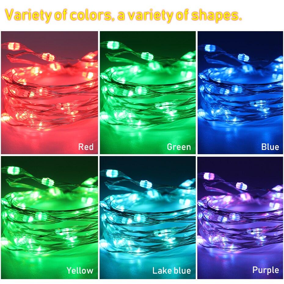 1M 2M 3M 5M 10M Waterproof LED String Light USB DC 5V RGB Wire Light Strip Outdoor Christmas Decoration LED Lights String TV 10M (8)