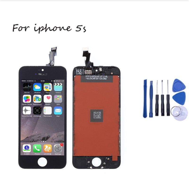 Grade AAA 5S +++ Para iPhone LCD Com Tela de Toque Digitador Assembléia Para o iphone Display 5S Nenhum Pixel Morto