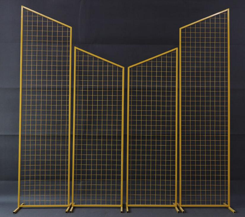 New wedding props Tieyi mesh screen decoration background geometry
