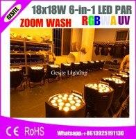 led motorized spotlight zoom par 18x18w 6 in 1 rgbwa uv Indoor led par light led zoom stage lights