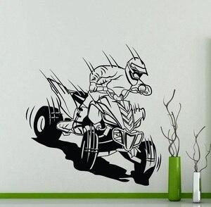 Image 1 - Vier rädern off road motorrad vinyl wand aufkleber racing extreme sport enthusiasten off road racing club home wand aufkleber 2CE