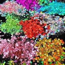 Массивный металлик, переливающийся косметический блеск микс для фестиваля и креативного макияжа, слизи и поделок, 50 г | блеск для тела 25 цветов