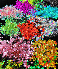 Chunky Metallic, Iridescent Cosmetic Glitter Mix For Festival & Creative Makeup, Slime and Crafts, 50g  | Body 25 Colors