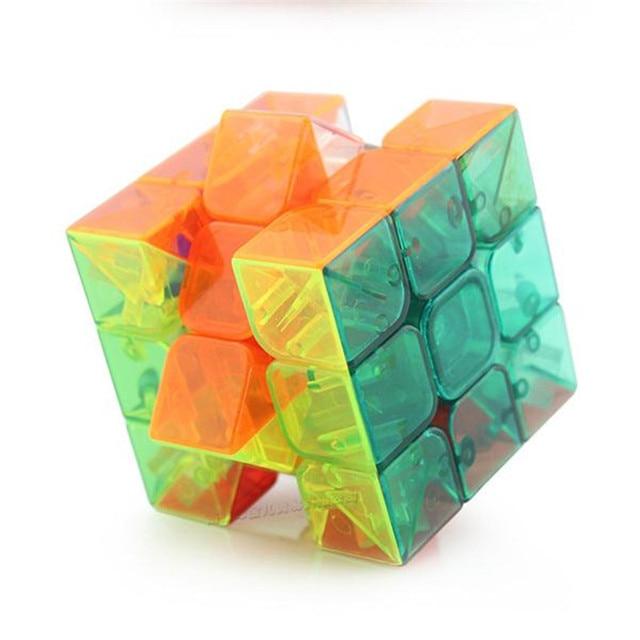 Magic Transparent Speed Cube Puzzle Twist Logical Thinking Brain ...