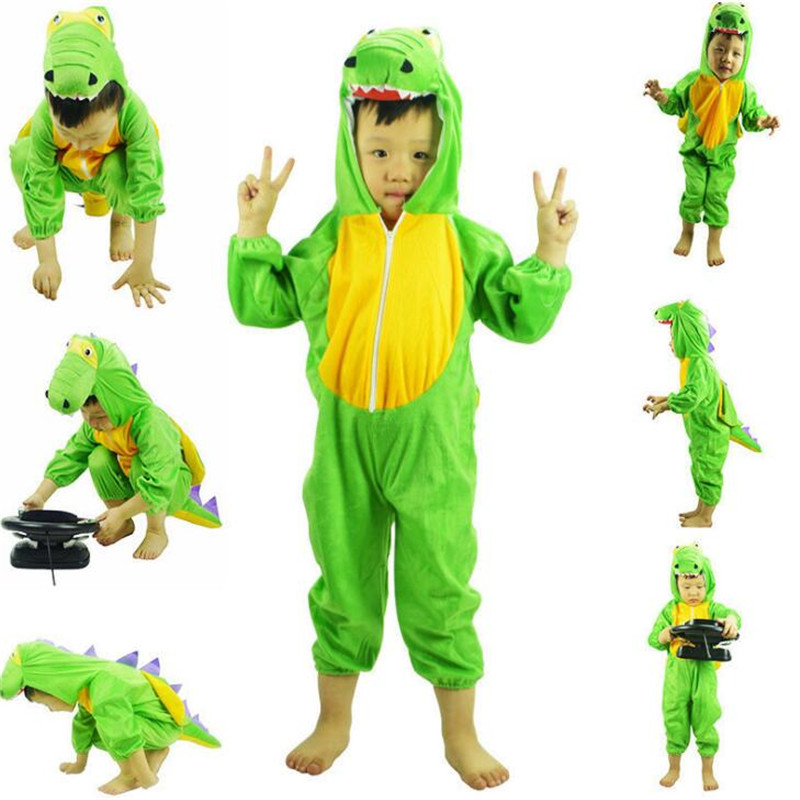 Jurassic Period Cartoon Dinosaur Costume Children Cosplay Costume Party Rompers Jumpsuits Suit