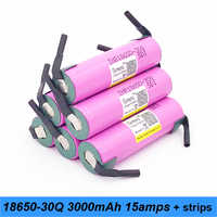 battery 18650 30q 3000mah INR18650 30Q 20amps suitable for e cigratte with strips 18650 batteries for screwdriver a9