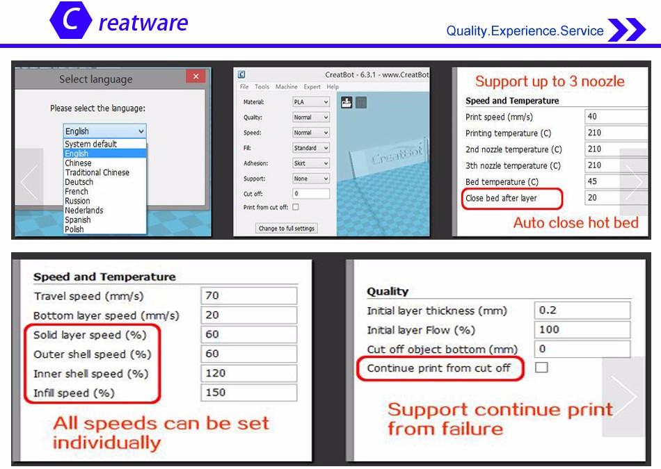 creatbot software