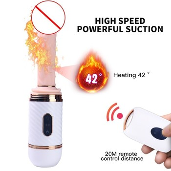 Sex Machine Automatic Female Masturbation Toy With Heating Function, Multiple Vibration Modes And Thrusting Levels