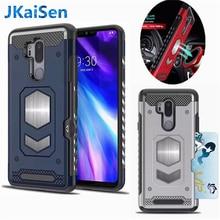 For LG G6 G7 Case Shockproof Armor Hybrid Car Magnetic Suction Bracket Cases for V30 Card Slot Cover Q6 Q8 Wholesale
