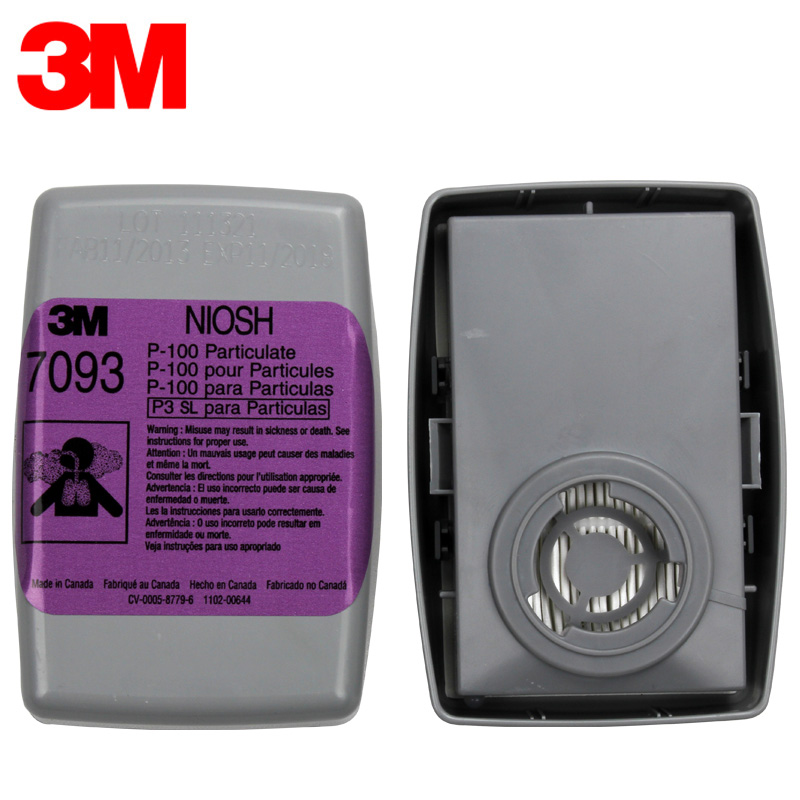 3M 7093 P100 Gas Cartridge Filter Protect Against Particulates/PM0.3/Welding Smoke Fit for 3M 6200/6800/7502 Mask