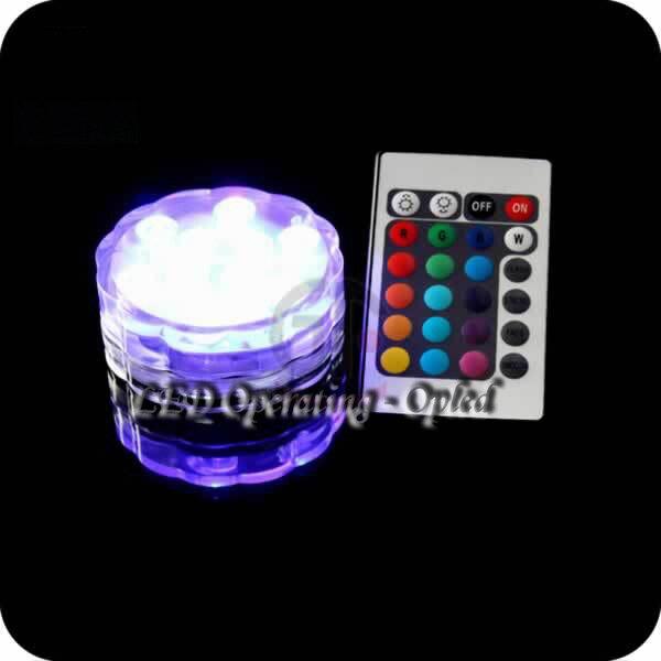 Mini UFO Underwater LED Aquarium Submersible Light RGB Remote Control  3