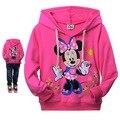 2016 Niños de Los Hoodies Del Gatito KT Gato de la historieta de Minnie de manga larga camiseta de las muchachas sudaderas con capucha suéter ocasionales niñas ropa de bebé niña ropa
