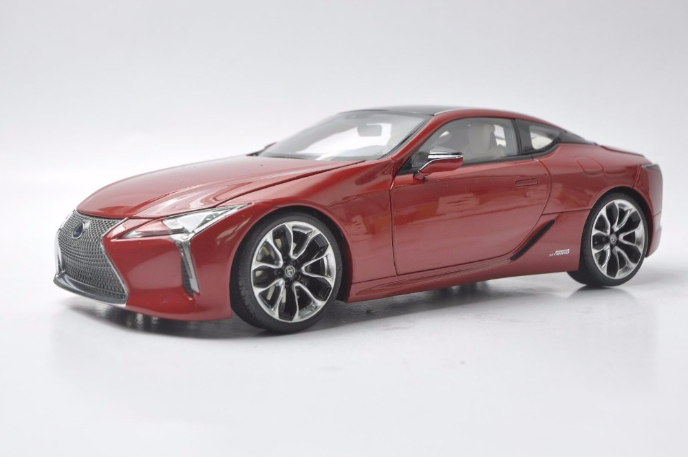 1:18 Diecast Model for Lexus LC 500h LC500h 2018 Red Coupe Alloy Toy Car Miniature Collection Gift LC500