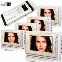 SmartYIBA 7 видео двери Камера Наборы Запись видео доступа Системы для 5 единиц квартира гостиничных номеров видео телефон двери дверной звонок