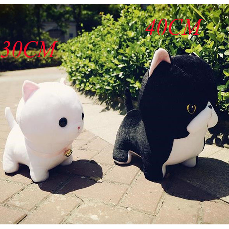 Doub K 1pcs cat Plush toy 40cm soft Stuffed Dolls kawaii Simulation animals anime plush toys pillow for children girls gifts 1pcs 40cm 50cm hot sale japan rain umbrella totoro dolls stuffed plush toys dolls children gifts