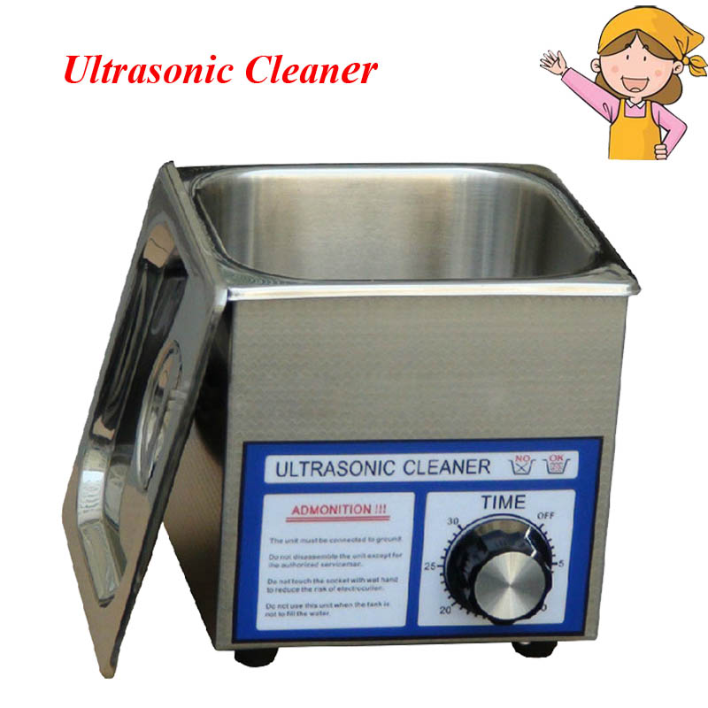 AC Digital Ultrasonic Cleaner 60w 1.3L Capacity Cleaning Machine for Jewelry, Glasses, Watches with Free Basket PS-08T household ultrasonic cleaning machine glasses watches jewelry phone motherboard ultrasonic cleaning