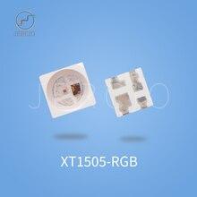 Jercio 50-1000pcs XT1511 XT1505 XT1511-2427(Similar with ws2812b.SK6812-RGB) Size different Programmable White Face SMD LED