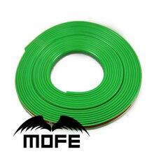 Mofe 8 M Nuevo Estilo Coche Rueda del Neumático del Borde Verde Etiqueta de Protector Con 3 M Cinta de Doble Cara