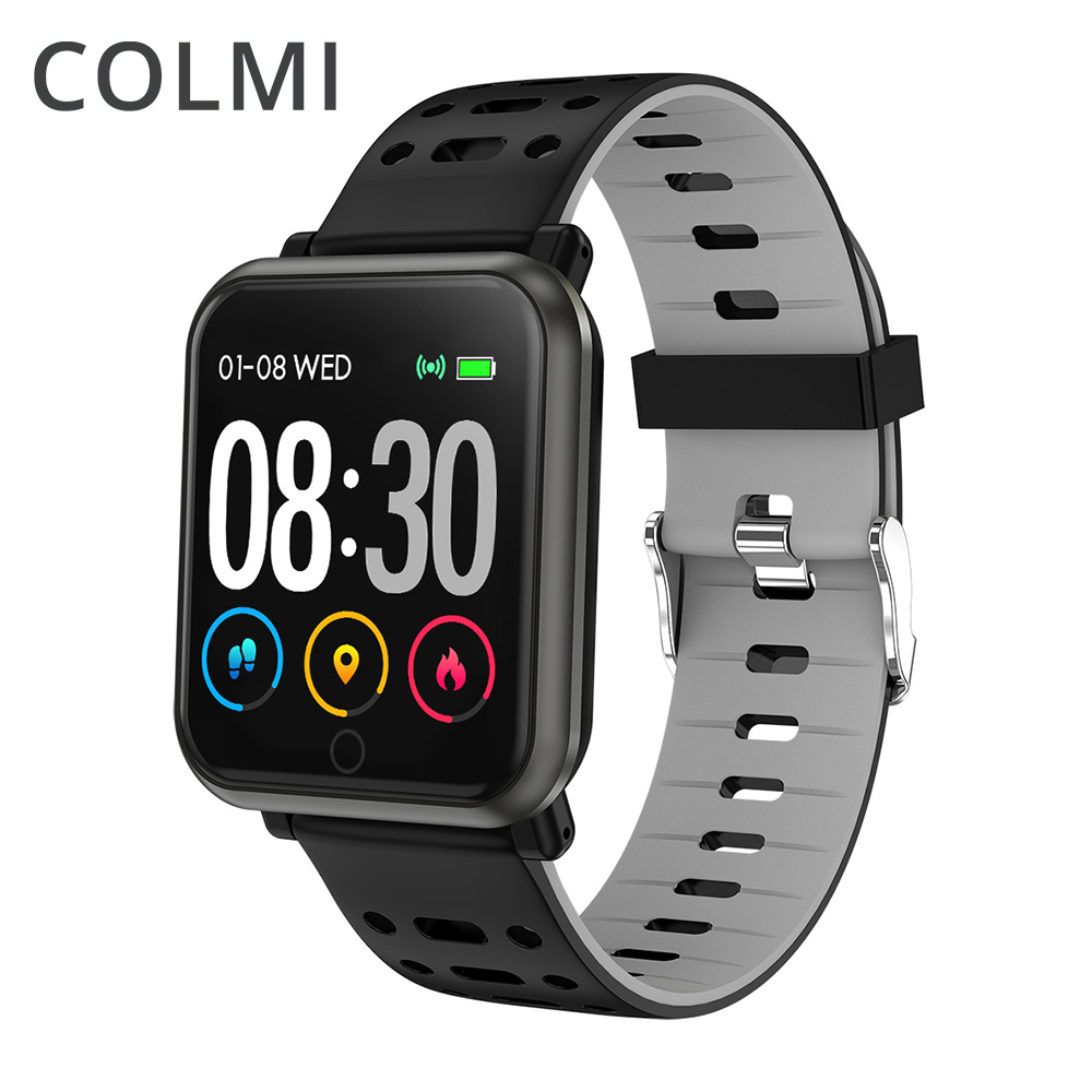 COLMI CP11 Smart Uhr <font><b>IP68</b></font> Wasserdicht Heart Rate Monitor Fitness tracker Männer Schwimmen Smartwatch für iPhone Android-handy image