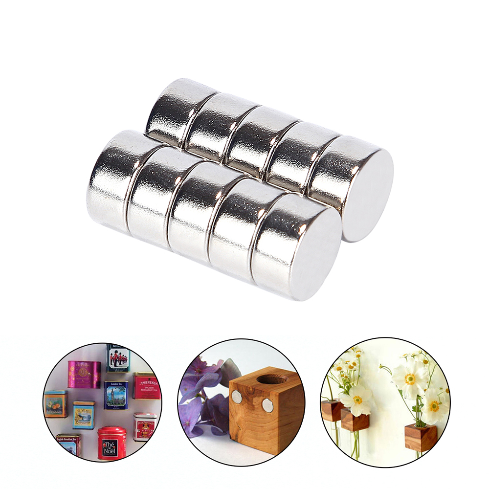 Hakkin 10Pcs 10*5mm Super Strong Neodymium Magnet N52 Round Disc Permanent Magnets Rare Earth for Arts Crafts Hobbies 10*5mm high quality100 pcs set 10mm 1 5mm thin neodymium magnets rare earth n50 neodymium permanent super strong magnetic disc